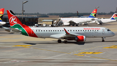 5Y-KYQ - Embraer 190-100IGW - Kenya Airways