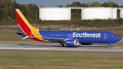A picture of N8714Q - Boeing 737 MAX 8 - Southwest Airlines - © Andrew Pries