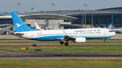 A picture of B6485 - Boeing 73785C - Xiamen Air - © BillyLIAO