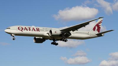 A picture of A7BEL - Boeing 7773DZ(ER) - Qatar Airways - © Stefan P