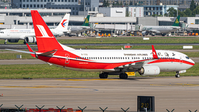 A picture of B1332 - Boeing 73789P - Shanghai Airlines - © ZhangYang