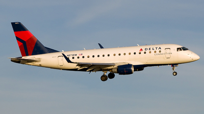A picture of N873RW - Embraer E170SU - Delta Air Lines - © Gautham Kurup