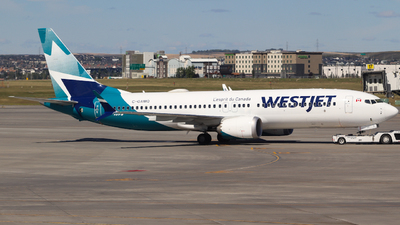 A picture of CGAMQ - Boeing 737 MAX 8 - WestJet - © yyj_plane_spotter