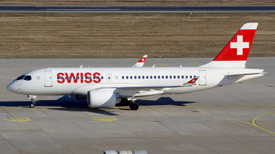 HB-JBG - Bombardier CSeries CS100  - Swiss