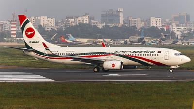 S2-AEW - Boeing 737-8HO - Biman Bangladesh Airlines