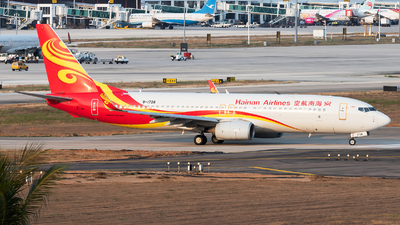 A picture of B1728 - Boeing 73784P - Hainan Airlines - © Lazy Clutch