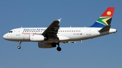 ZS-SFM - Airbus A319-131 - South African Airways