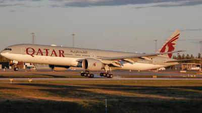 A picture of A7BEF - Boeing 7773DZ(ER) - Qatar Airways - © Adrian Olstad