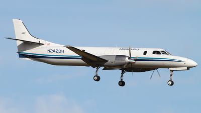 A picture of N242DH - Fairchild Swearingen Metroliner - Ameriflight - © Angel Natal