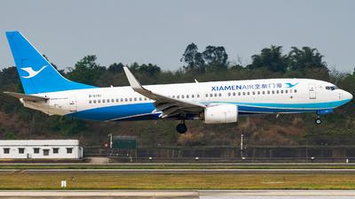 A picture of B5751 - Boeing 73785C - Xiamen Air - © Miaomiao