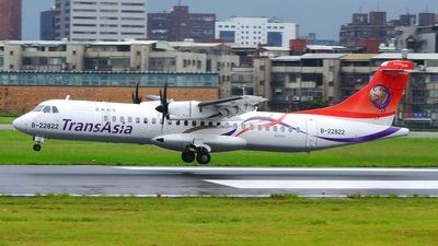 B-22822 - ATR 72-212A(600) - TransAsia Airways