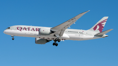 A picture of A7BCY - Boeing 7878 Dreamliner - Qatar Airways - © Debregabor