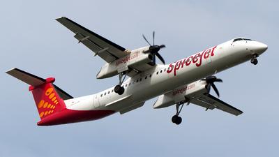 A picture of VTSUK - De Havilland Canada Dash 8400 - SpiceJet - © Girish B