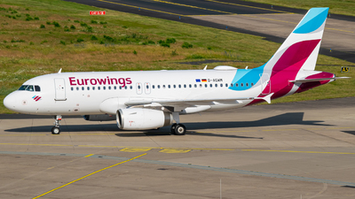 A picture of DAGWM - Airbus A319132 - Eurowings - © Finnographie