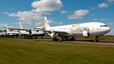 A picture of ECMFA - Airbus A340313 - Plus Ultra - © Simon Fewkes