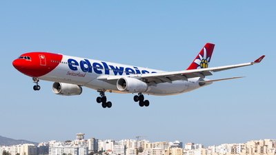 A picture of HBJHR - Airbus A330343 - Edelweiss Air - © Carlos Miguel Seabra
