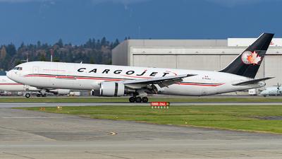 A picture of CGUAJ - Boeing 76735E(ER)(BCF) - Cargojet Airways - © CYVR Zhourong Yin