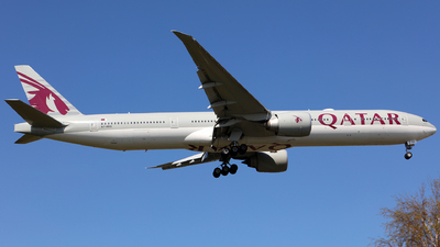 A picture of A7BED - Boeing 7773DZ(ER) - Qatar Airways - © J.M.Carballo