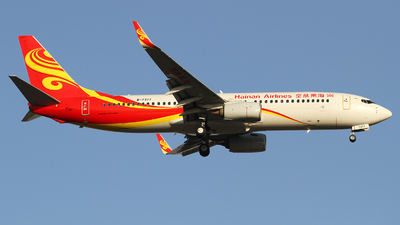 A picture of B7377 - Boeing 73786N - Hainan Airlines - © M.T