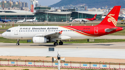 A picture of B6722 - Airbus A320232 - Shenzhen Airlines - © Dandelionlv125