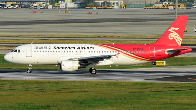 A picture of B6649 - Airbus A320214 - Shenzhen Airlines - © F3E1988