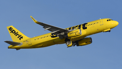 A picture of N622NK - Airbus A320232 - Spirit Airlines - © DJ Reed - OPShots Photo Team
