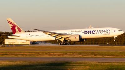 A picture of A7BAG - Boeing 7773DZ(ER) - Qatar Airways - © Josh Deitz