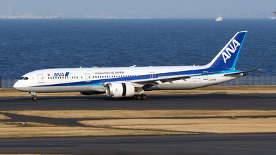 A picture of JA876A - Boeing 7879 Dreamliner - All Nippon Airways - © TRAVAIR