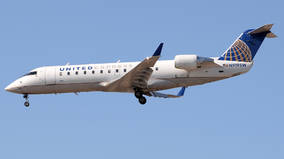 A picture of N919SW - Mitsubishi CRJ200LR - United Airlines - © David Oates