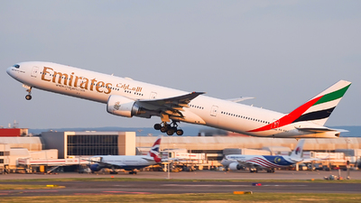 A picture of A6EGJ - Boeing 77731H(ER) - Emirates - © Simon330lover