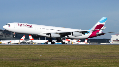 OO-SCW - Airbus A340-313X - Eurowings (Brussels Airlines)