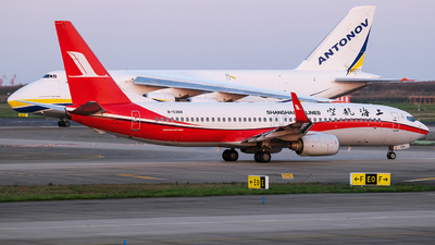 A picture of B5368 - Boeing 7378Q8 - Shanghai Airlines - © Predic. LXY!