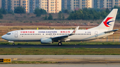 A picture of B1306 - Boeing 73789P - China Eastern Airlines - © ChengFJ