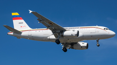 0001 - Airbus A319-133X(CJ) - Venezuela - Air Force