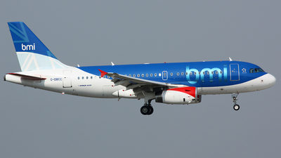 G-DBCC - Airbus A319-131 - bmi British Midland International