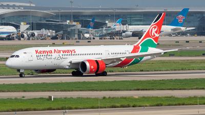 A picture of 5YKZJ - Boeing 7878 Dreamliner - Kenya Airways - © ZGGG RWY01
