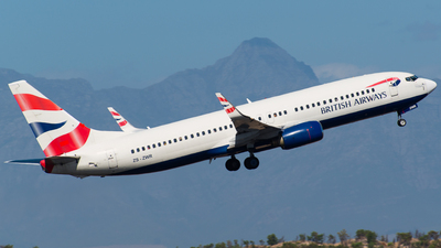 ZS-ZWR - Boeing 737-85P - British Airways (Comair)