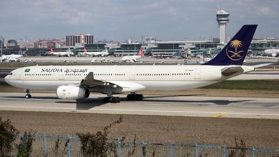 A picture of HZAQ28 - Airbus A330343 - Saudia - © Firat Cimenli