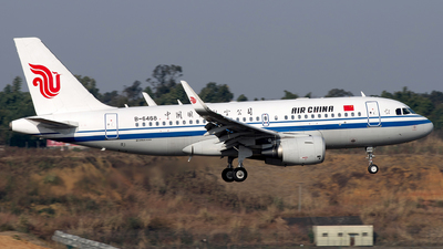 A picture of B6468 - Airbus A319115 - Air China - © baobao723
