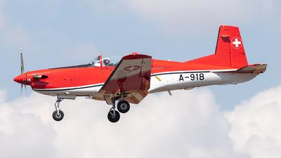 A-918 - Pilatus NCPC-7 - Switzerland - Air Force