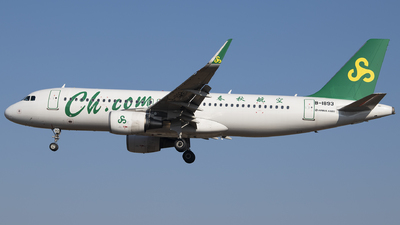 A picture of B1893 - Airbus A320214 - Spring Airlines - © Tom Cheng