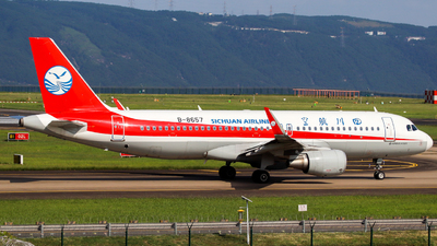 A picture of B8657 - Airbus A320214 - Sichuan Airlines - © ZUCK_SHAOYEOvO