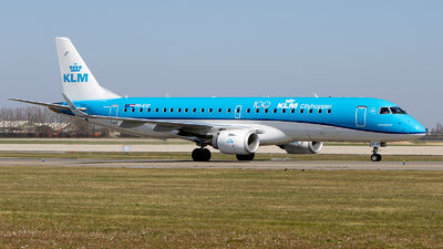 A picture of PHEXF - Embraer E190STD - KLM - © Freek Blokzijl