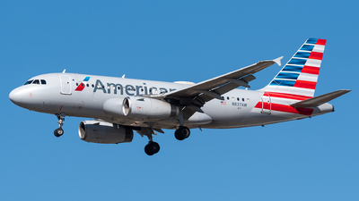 A picture of N837AW - Airbus A319132 - American Airlines - © Evan Dougherty