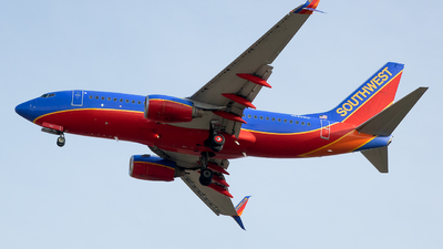 A picture of N296WN - Boeing 7377H4 - Southwest Airlines - © Stephen J Stein