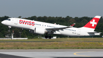 A picture of HBJCL - Airbus A220300 - Swiss - © Sierra Aviation Photography