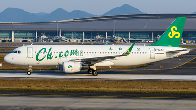 A picture of B1023 - Airbus A320214 - Spring Airlines - © Mr.Huang