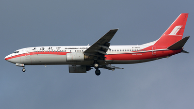 A picture of B2686 - Boeing 7378Q8 - Shanghai Airlines - © zhangmx969