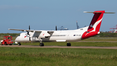 A picture of VHLQD - De Havilland Canada Dash 8400 - Qantas - © Tim Burnett