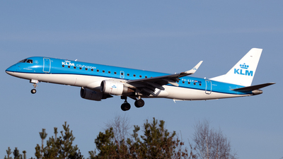 A picture of PHEZP - Embraer E190STD - KLM - © PAUL LINK